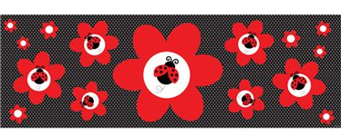 Ladybug Party Giant Customisable Banner - 5ft