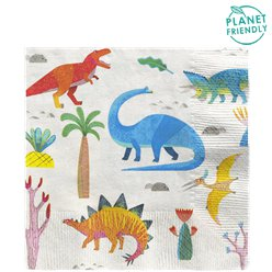 Little Party Dino Lunch Napkin - 33cm