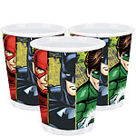 Justice League Cups - 256ml Paper Party Cups