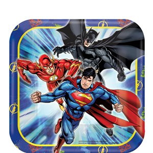 Justice League Dessert Plates - 17cm Paper Party Plates