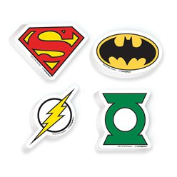 Justice League Erasers