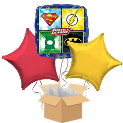 Justice League Balloon Bouquet - Delivered Inflated