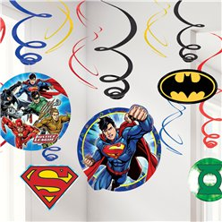 Justice League Hanging Swirls