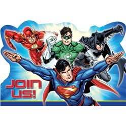 Justice League Party Invitations