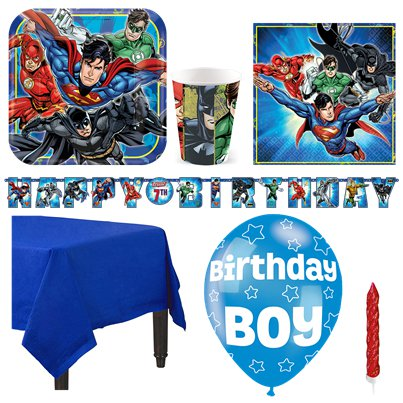 Justice League Party Pack - Deluxe Pack for 8