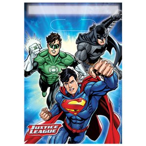Justice League Party Bags - Plastic Loot Bags