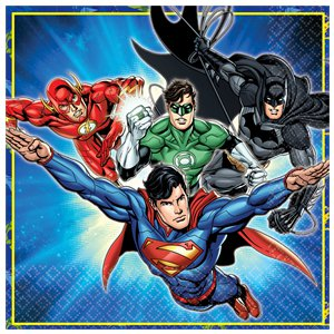 Justice League Napkins - 2ply Paper