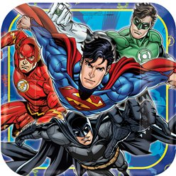 Justice League Dinner Plates - 23cm Paper Party Plates