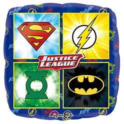 Justice League Emblems Square Balloon - 18