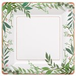 Love & Leaves Square Plates - 26cm Paper Party Plates