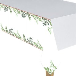 Love & Leaves Paper Tablecover - 1.4m x 2.6m