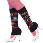Neon Black Striped Leg Warmers
