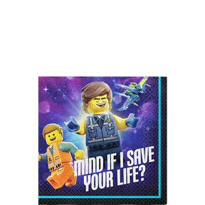 Lego Movie 2 Beverage Napkin - 25cm