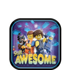 Lego Movie 2 Dessert Plates - 17cm