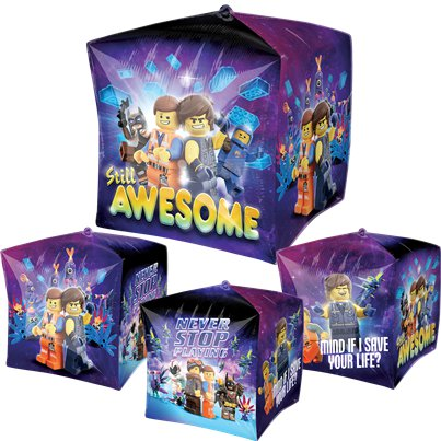 "Lego Movie 2 Cubez Balloon - 15"" Foil"