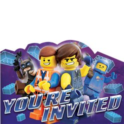 Lego Movie 2 Party Invitations