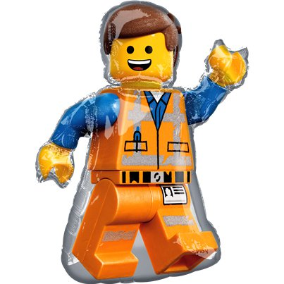 "Lego Movie 2 Supershape Balloon - 24"" x 32"" Foil"