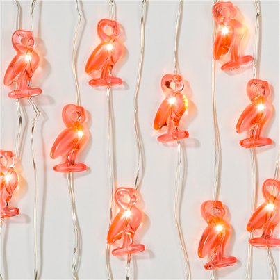 Fiesta Mini Flamingo Lights - 3m