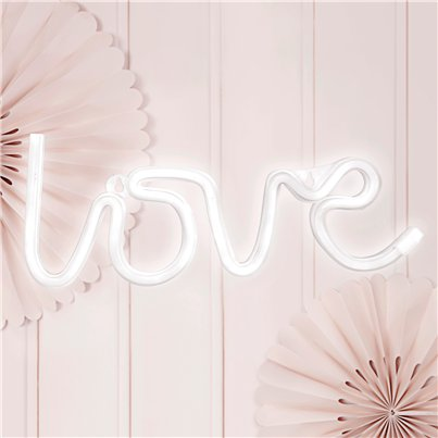 Neon LED White Love Light- 34.5cm