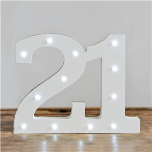 Up In Lights Milestone Numbers - 21