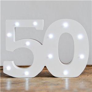 Up In Lights Milestone Numbers - 50