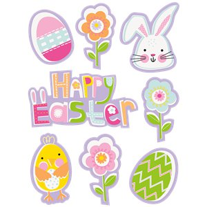 Lilac Easter Window Clings