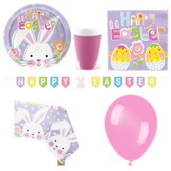 Lilac Easter Party Pack - Deluxe Pack For 8