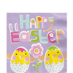 Lilac Easter Lunch Napkins - 33cm