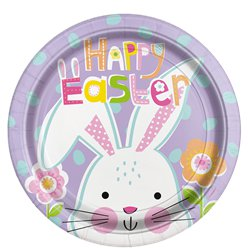 Lilac Easter Paper Plates - 22cm