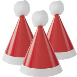 Mini Pom Pom Santa Party Hats
