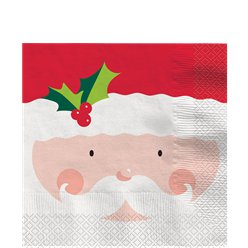 Check Your List Twice - Holly Santa Lunch Napkins