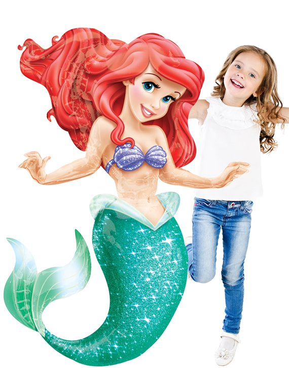 "Disney Little Mermaid Large Airwalker Balloon - 53"" Foil"