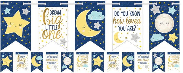 Twinkle Little Star Paper Bunting - 4.6m