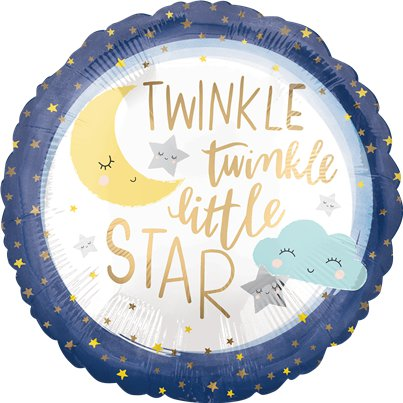 "Twinkle Little Star Balloon - 18"" Foil"