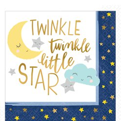 Twinkle Little Star Paper Napkins - 33cm