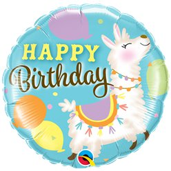 "Llama ""Happy Birthday"" Balloon - 18"" Foil Balloon"