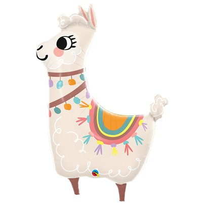 "Llama Supershape Balloon - 45"" Foil"