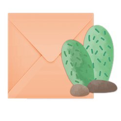 Llama Party Invitations - Die-Cut Invites & Envelopes