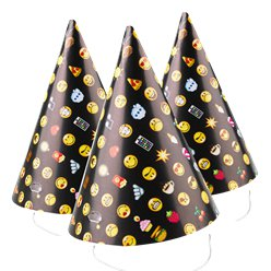 Smiley Paper Cone Party Hats