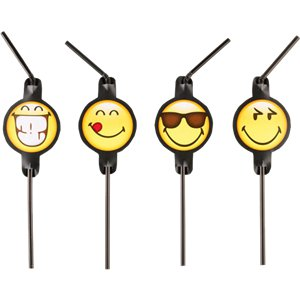 Smiley Novelty Drinking Straws