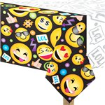 Smiley Plastic Tablecover - 1.4m x 2.4m