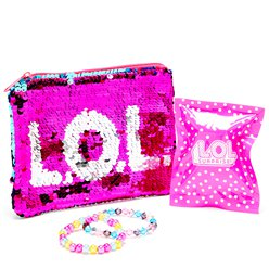 LOL Surprise Sequin Purse & Jewellery Set