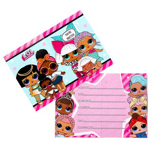 L.O.L Surprise Party Invitation Cards