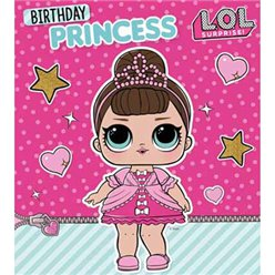 LOL Surprise Birthday Princess Card