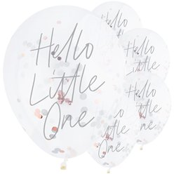 "Hello Little One Confetti Balloons - 12"" Latex"