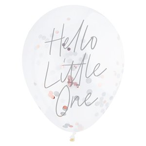 Hello Little One Confetti Balloons - 12