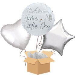 Welcome Home Baby Balloon Bouquet - Delivered Inflated