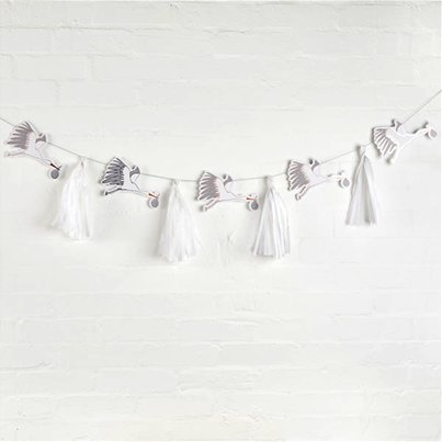 Hello Little One Stork & Tassel Garland - 3m