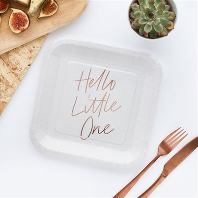 Hello Little One Paper Party Plates