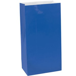 Royal Blue Party Bags - Paper 24cm